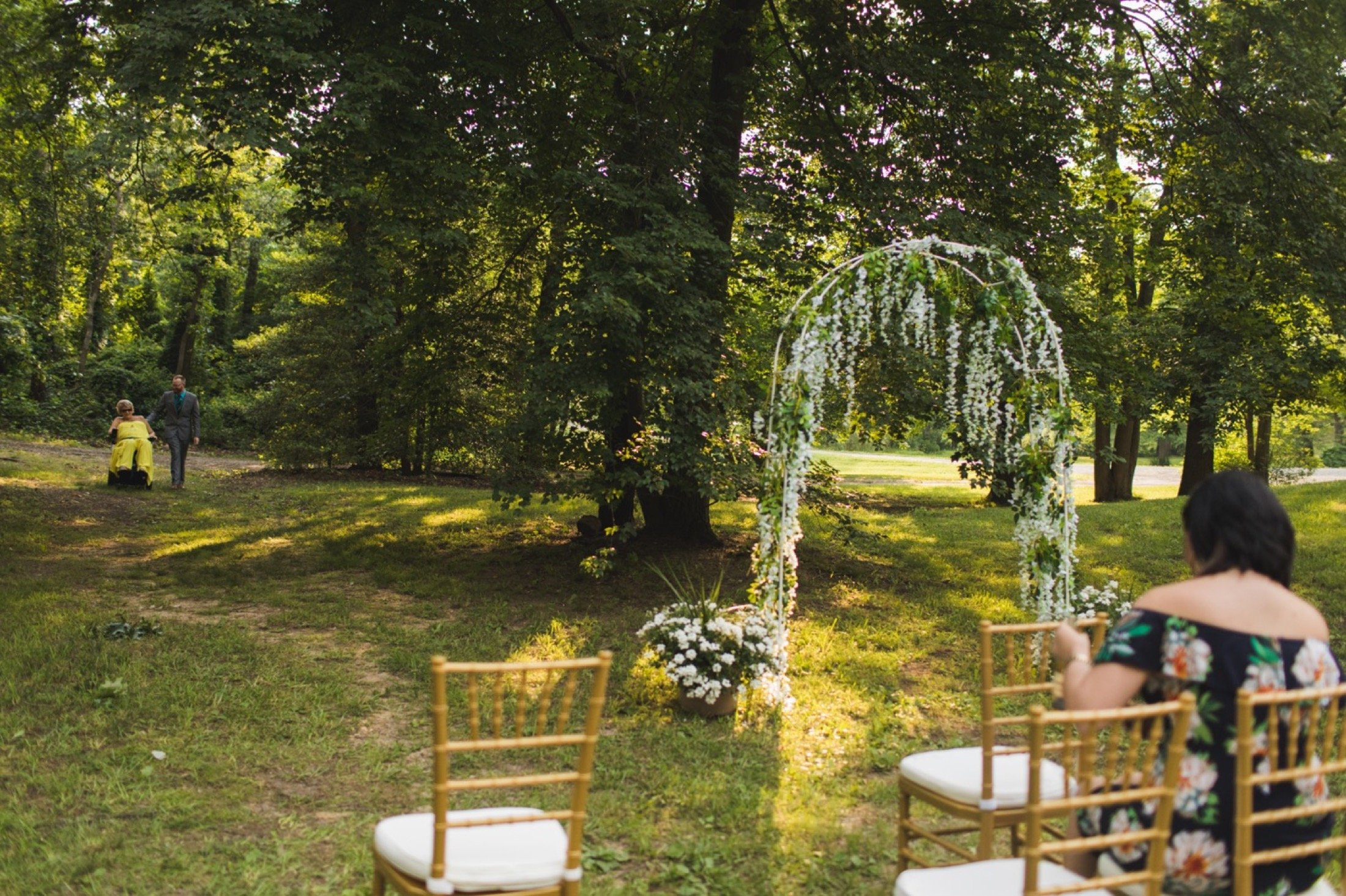 intimate backyard wedding, Philadelphia