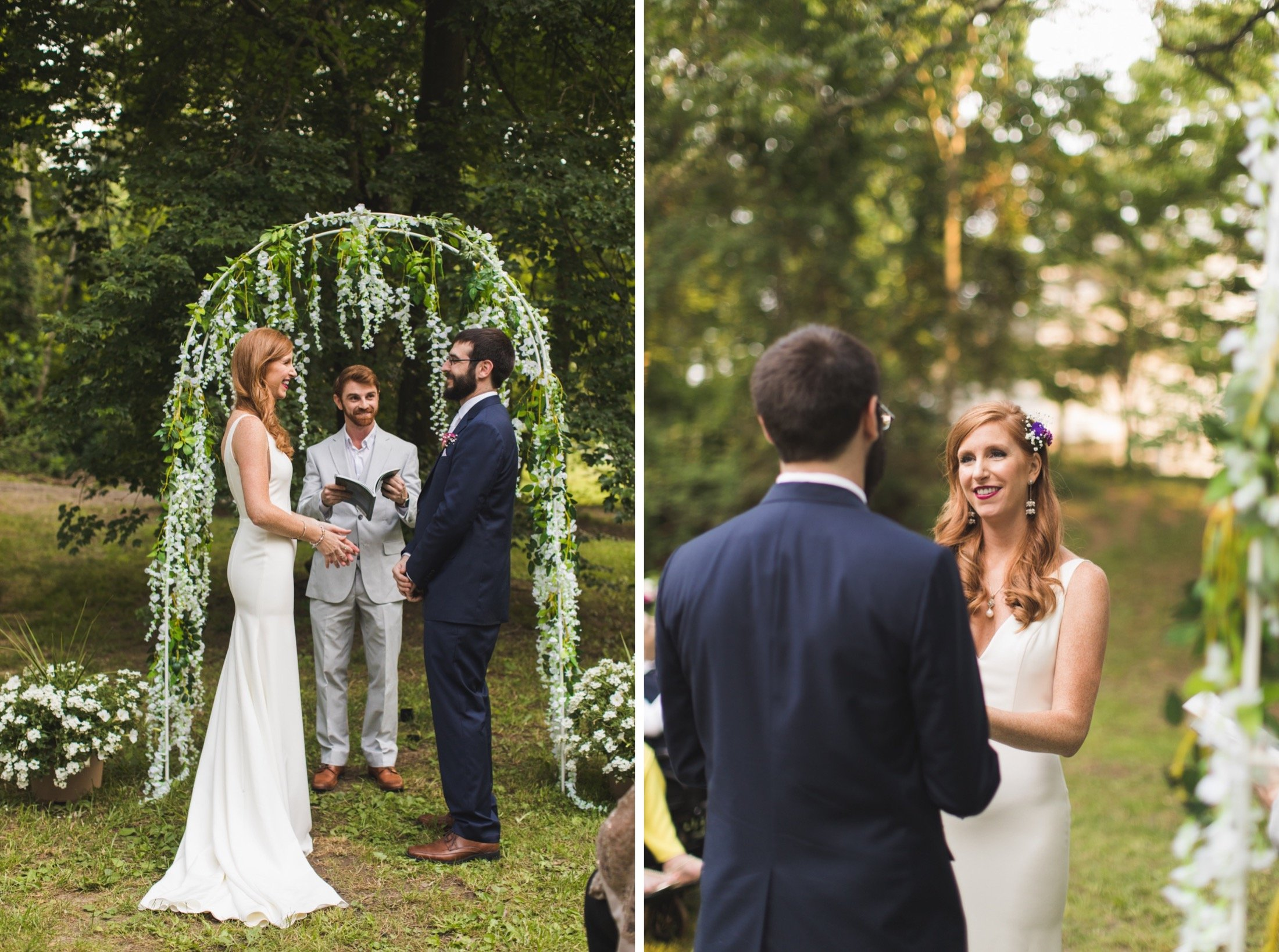 intimate backyard wedding, New Jersey