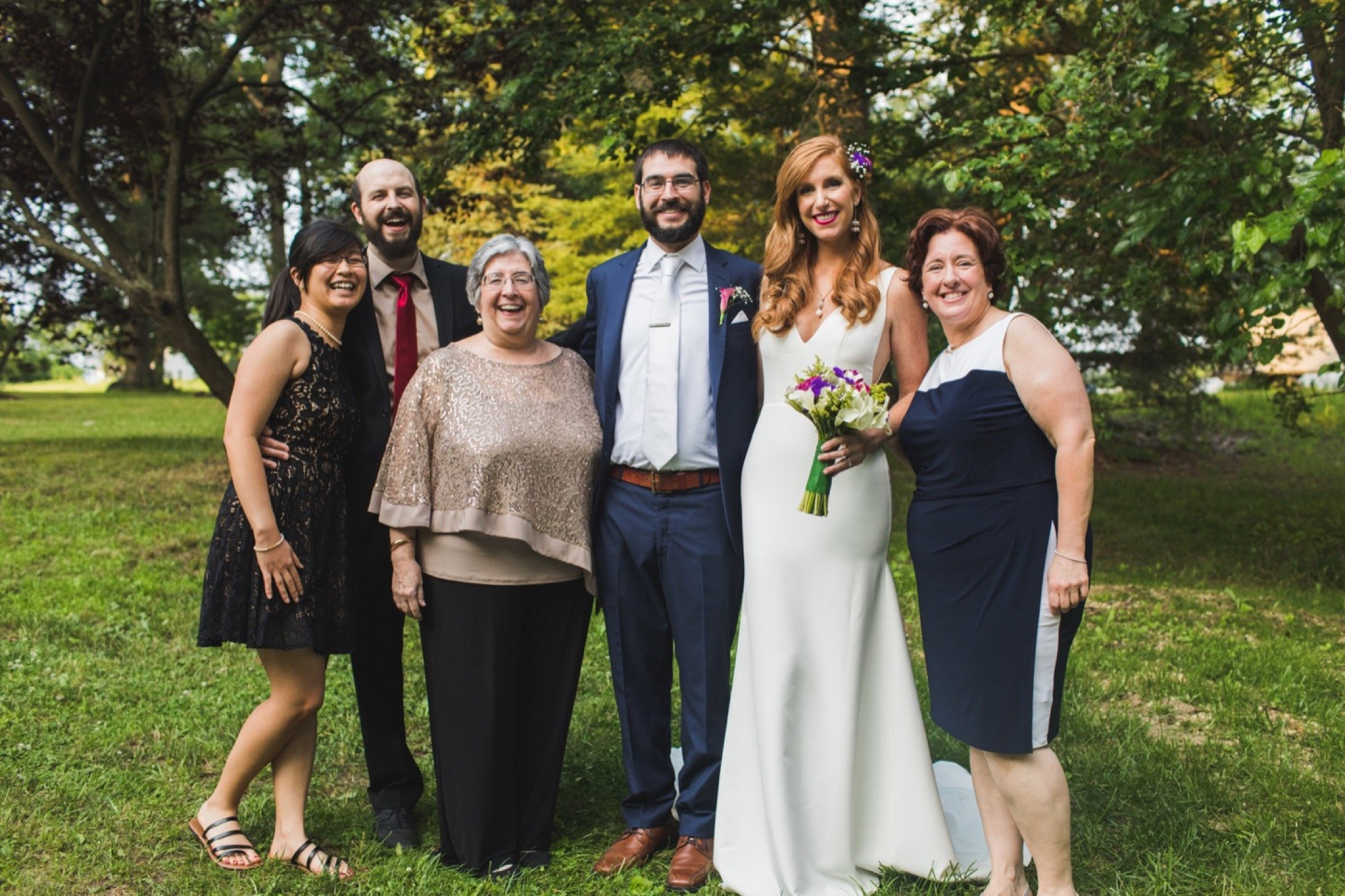 intimate backyard wedding, New Jersey