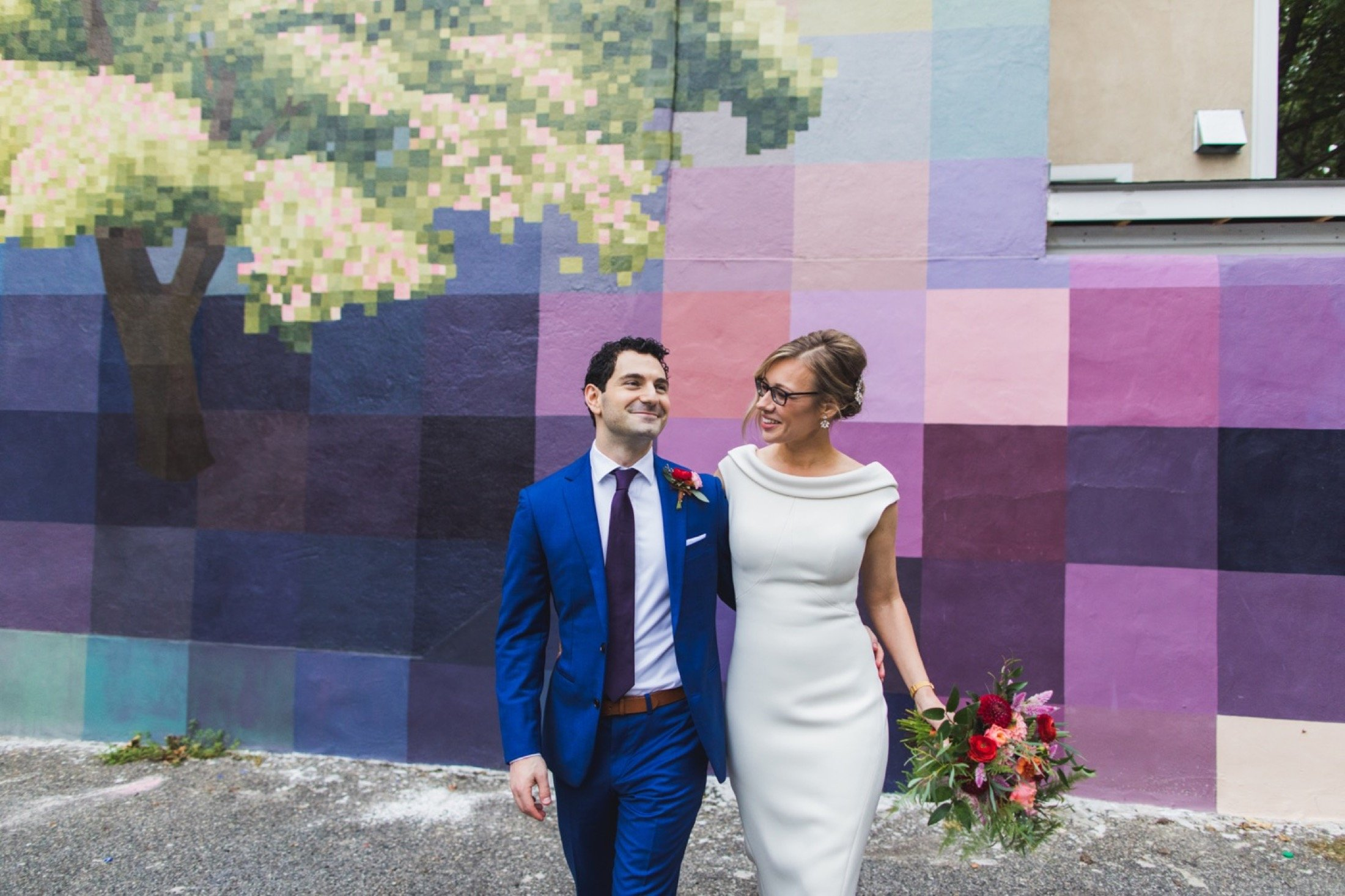 1315 Pine Street, Spring, mural, wedding, Philadelphia, photography