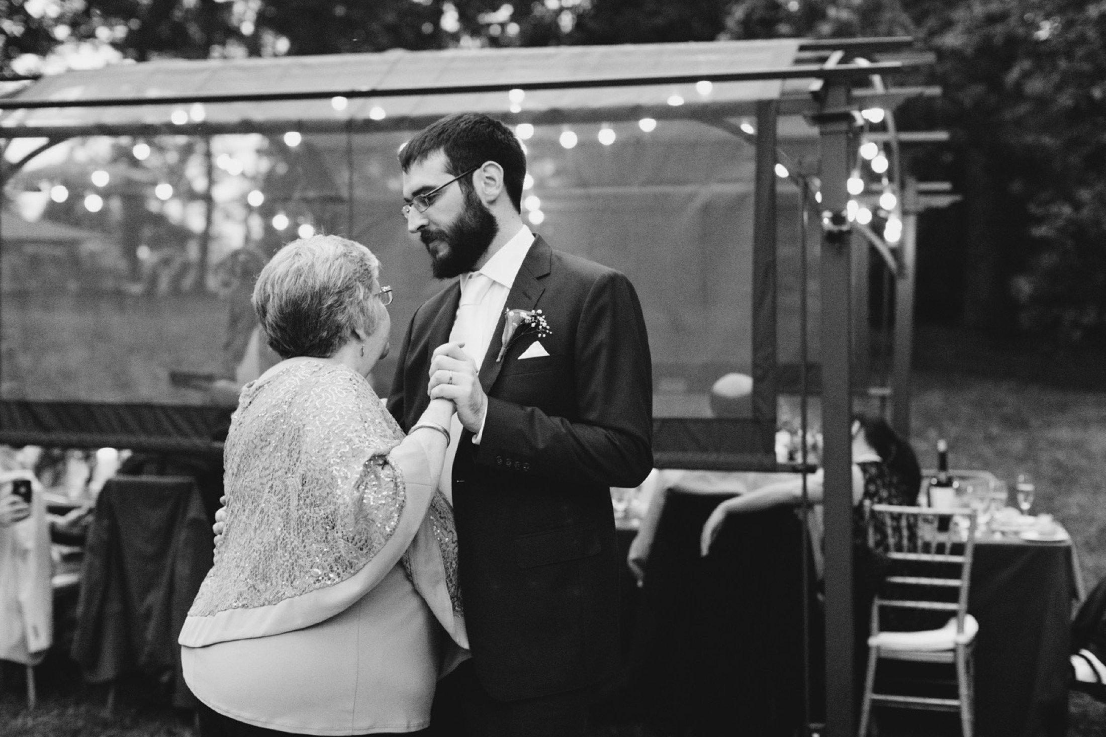 intimate wedding, backyard, dance floor, New Jersey