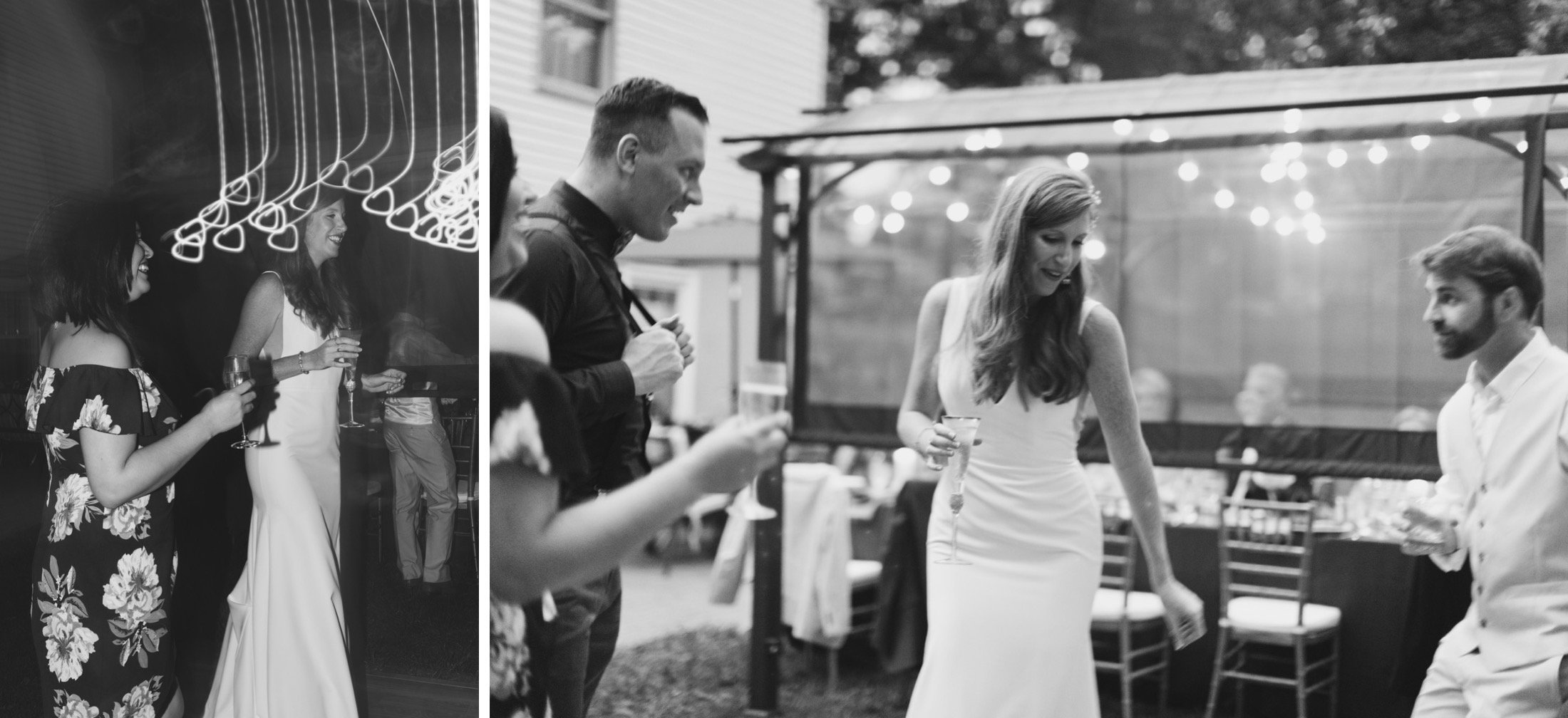 intimate wedding, New Jersey, backyard, dinner