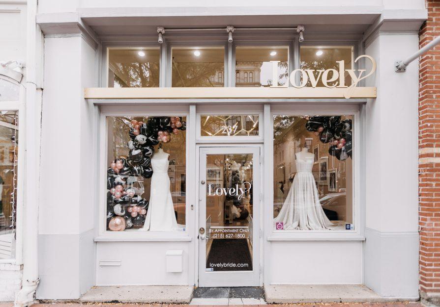 Lovely Bride Philly, storefront, wedding dresses