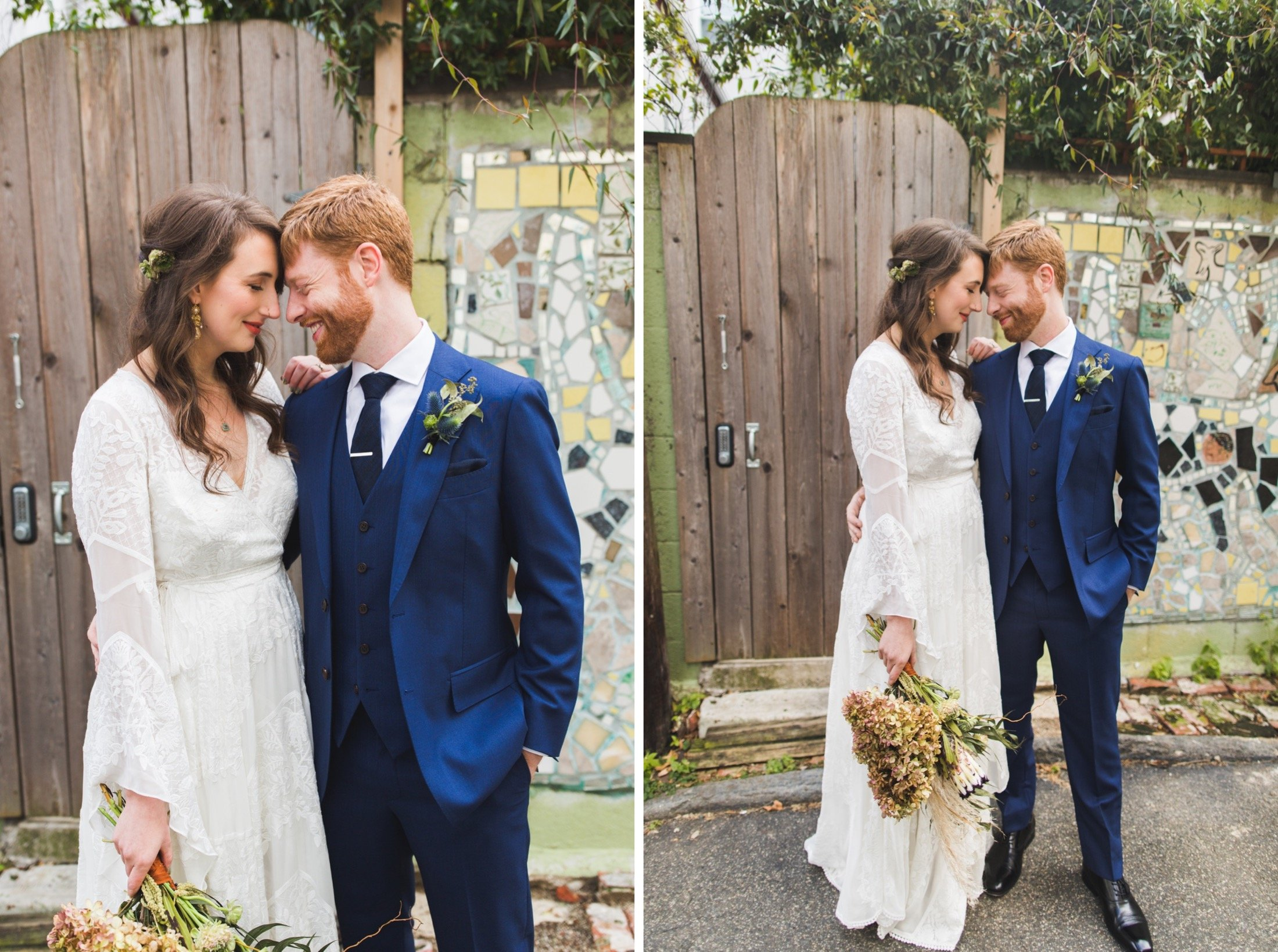Bella Vista, South Philadelphia, first look, wedding, mosaic, magic garden