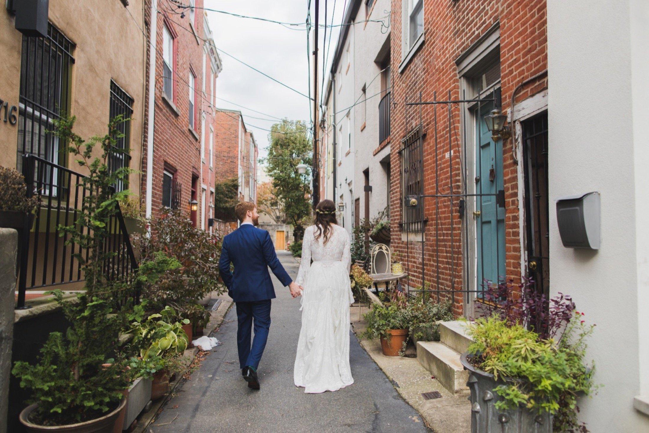 Bella Vista, South Philadelphia, first look, wedding, mosaic, magic garden
