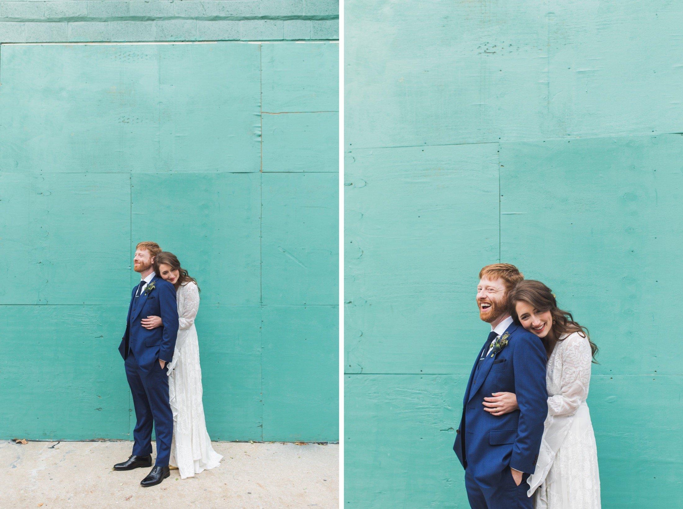 Pemberton, Darien, mural, Philadelphia, wedding, portrait