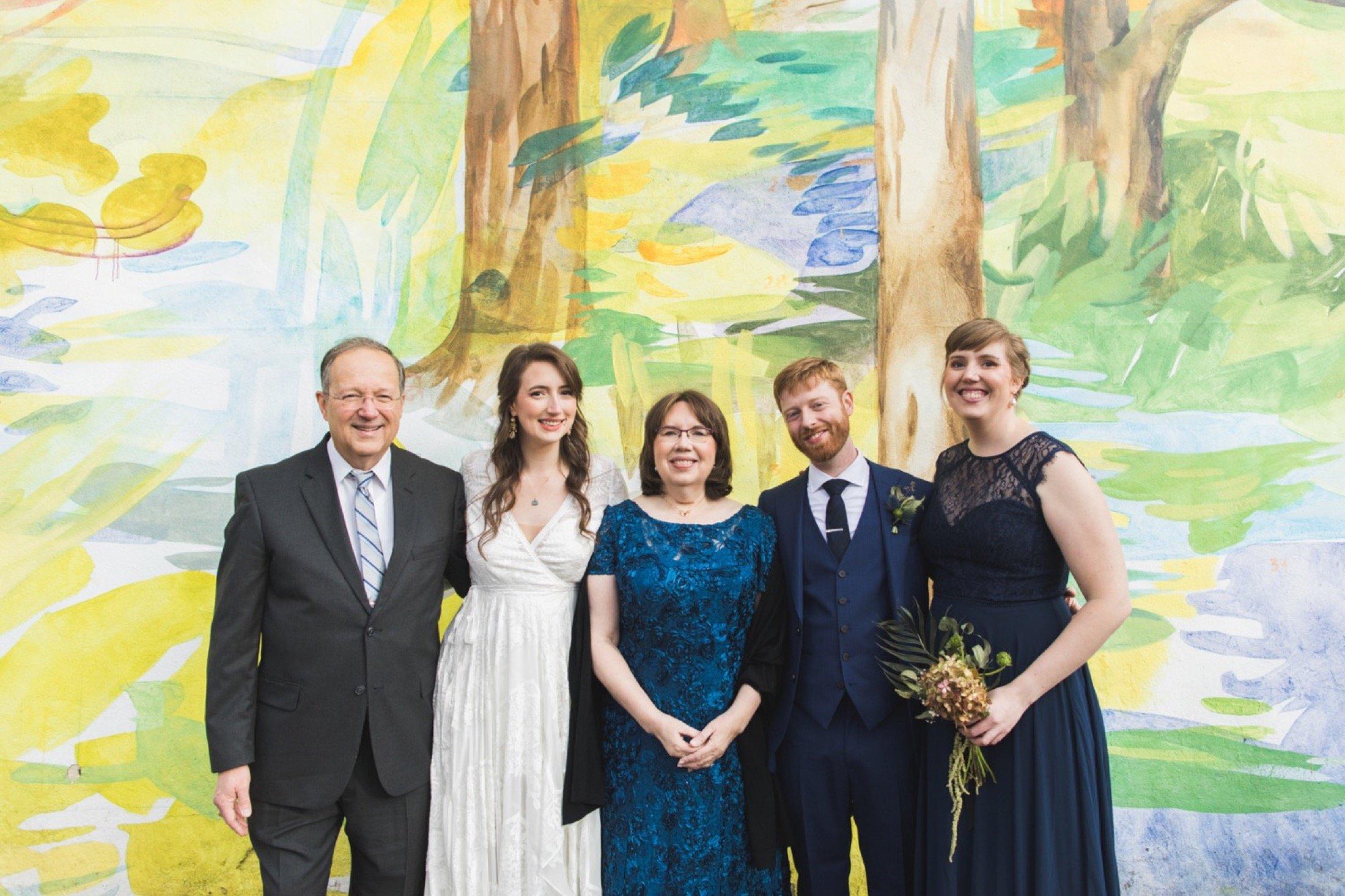 Fleisher Art Memorial, wedding, family photos, mural