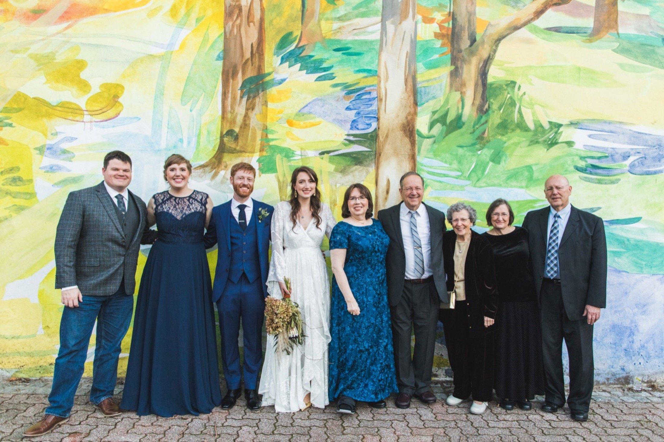 Fleisher Art Memorial, wedding, family photos, mural