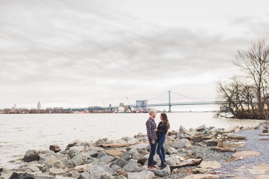 Rachel, Zach, Penn Treaty Park, engagement photography