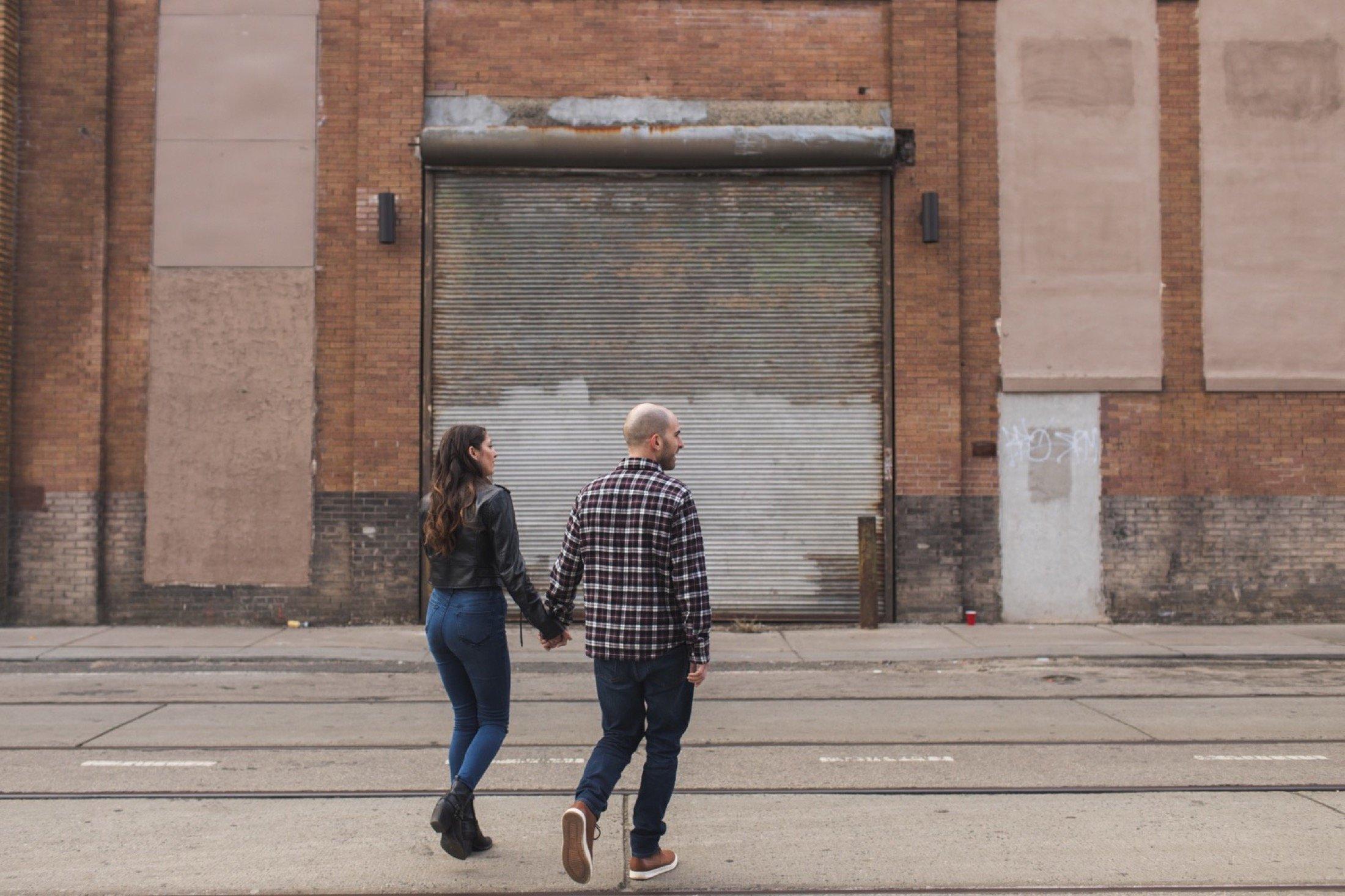 engagement session, Kensington, Philadelphia