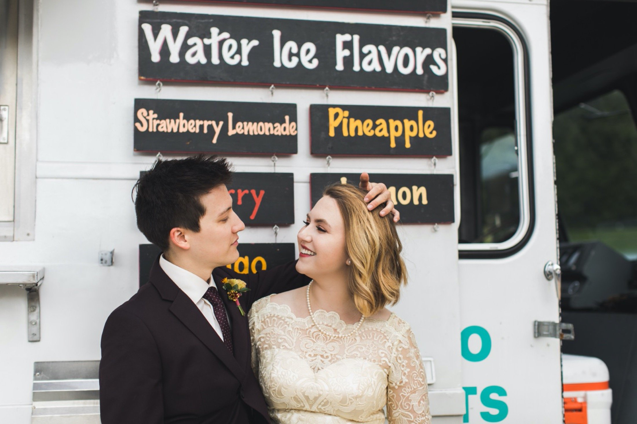 water ice truck, elopement, wedding, Philadelphia