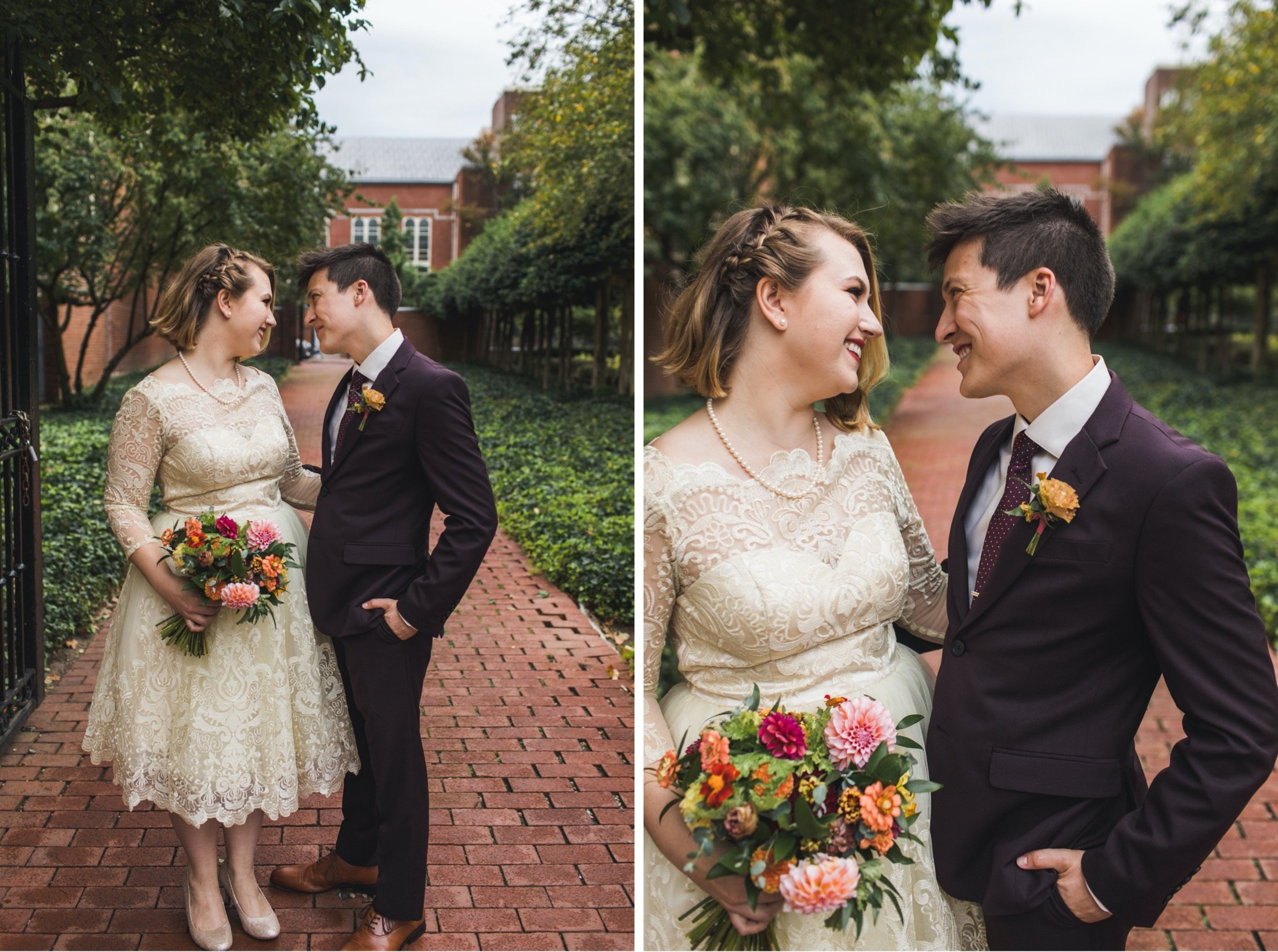 18th Century Gardens, Philadelphia, wedding, elopement, microwedding
