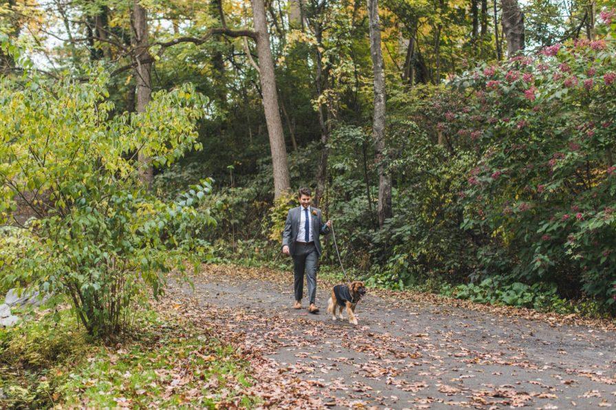 groom walking, first look, Philadelphia