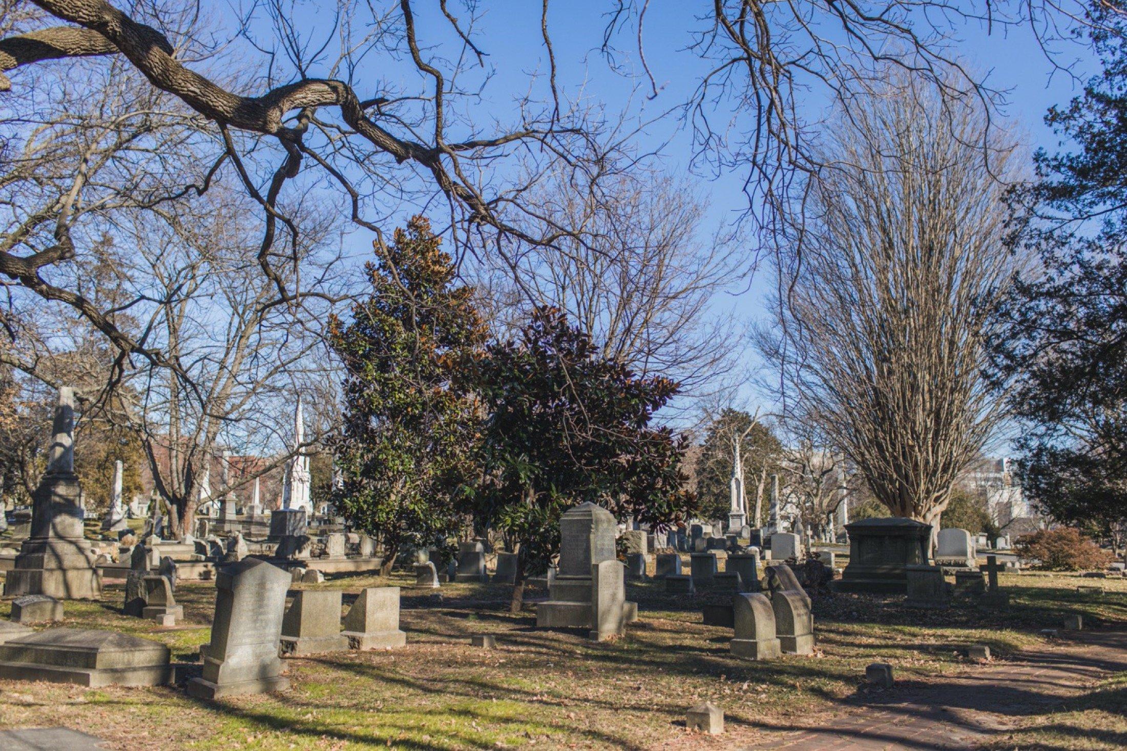 The Woodlands, Philadelphia, wedding, cemetery