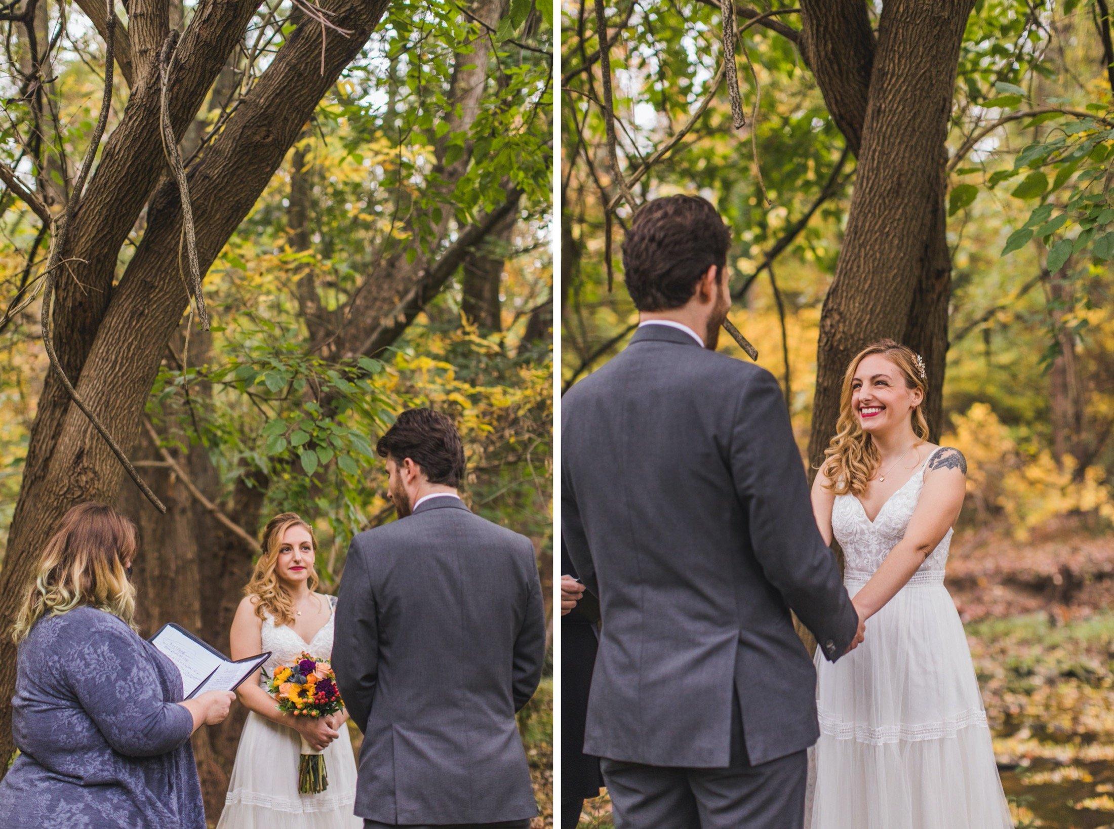 microwedding, ceremony, Curtis Arboretum, Philadelphia
