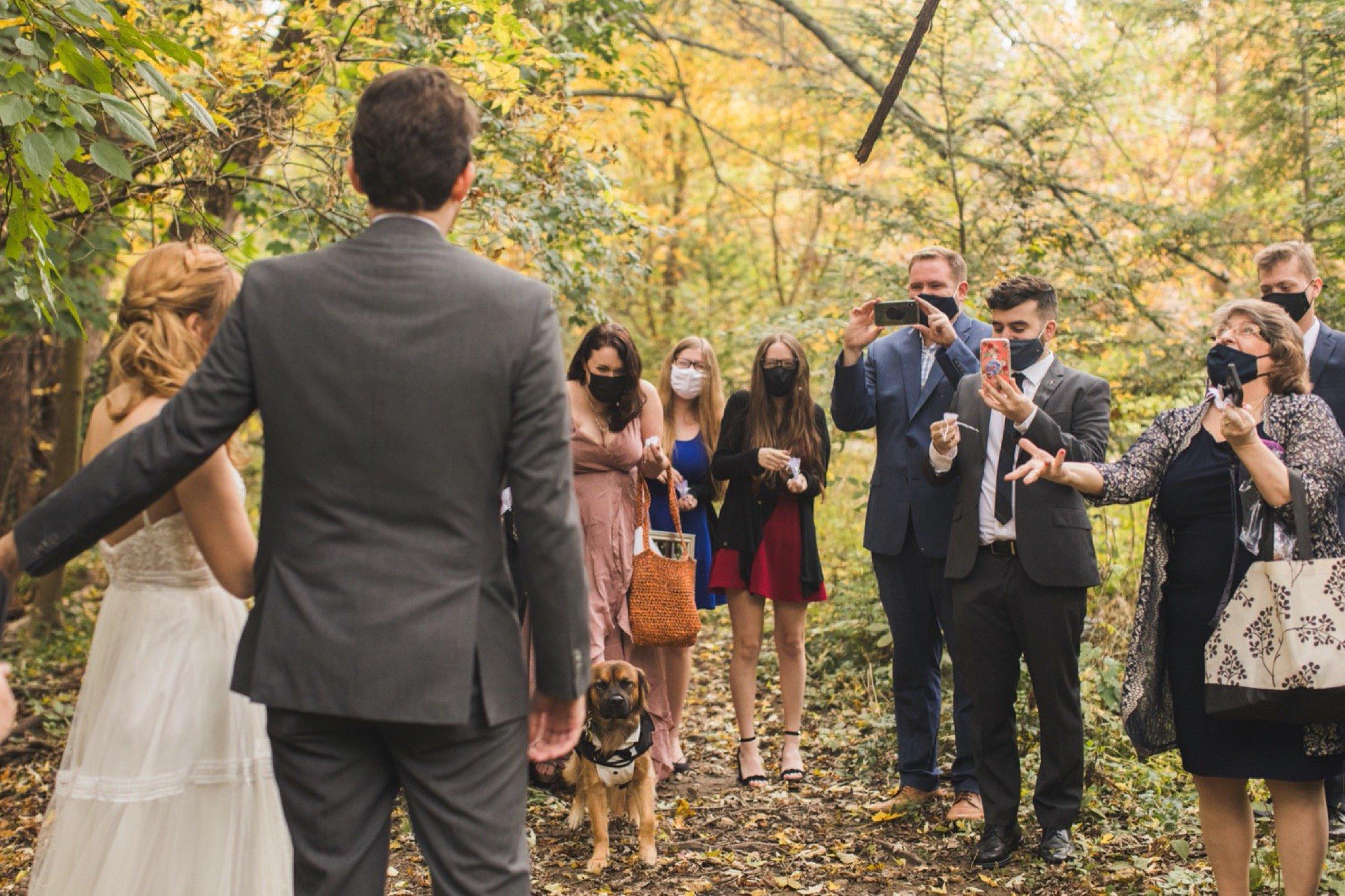 guests, wedding, masks, elopement, microwedding, Philadelphia
