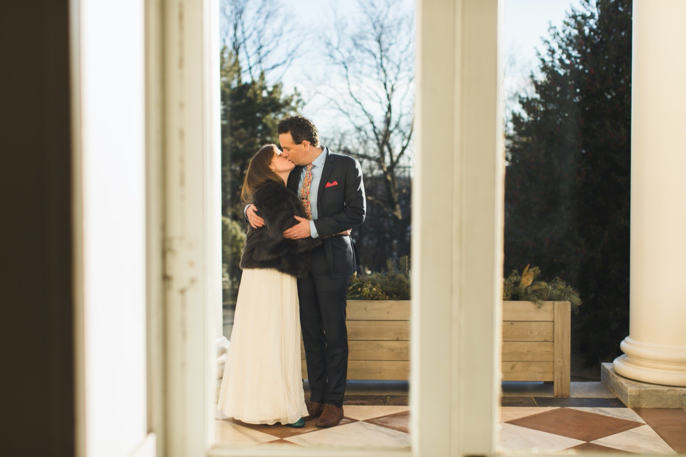 The Woodlands, wedding, Philadelphia, portico