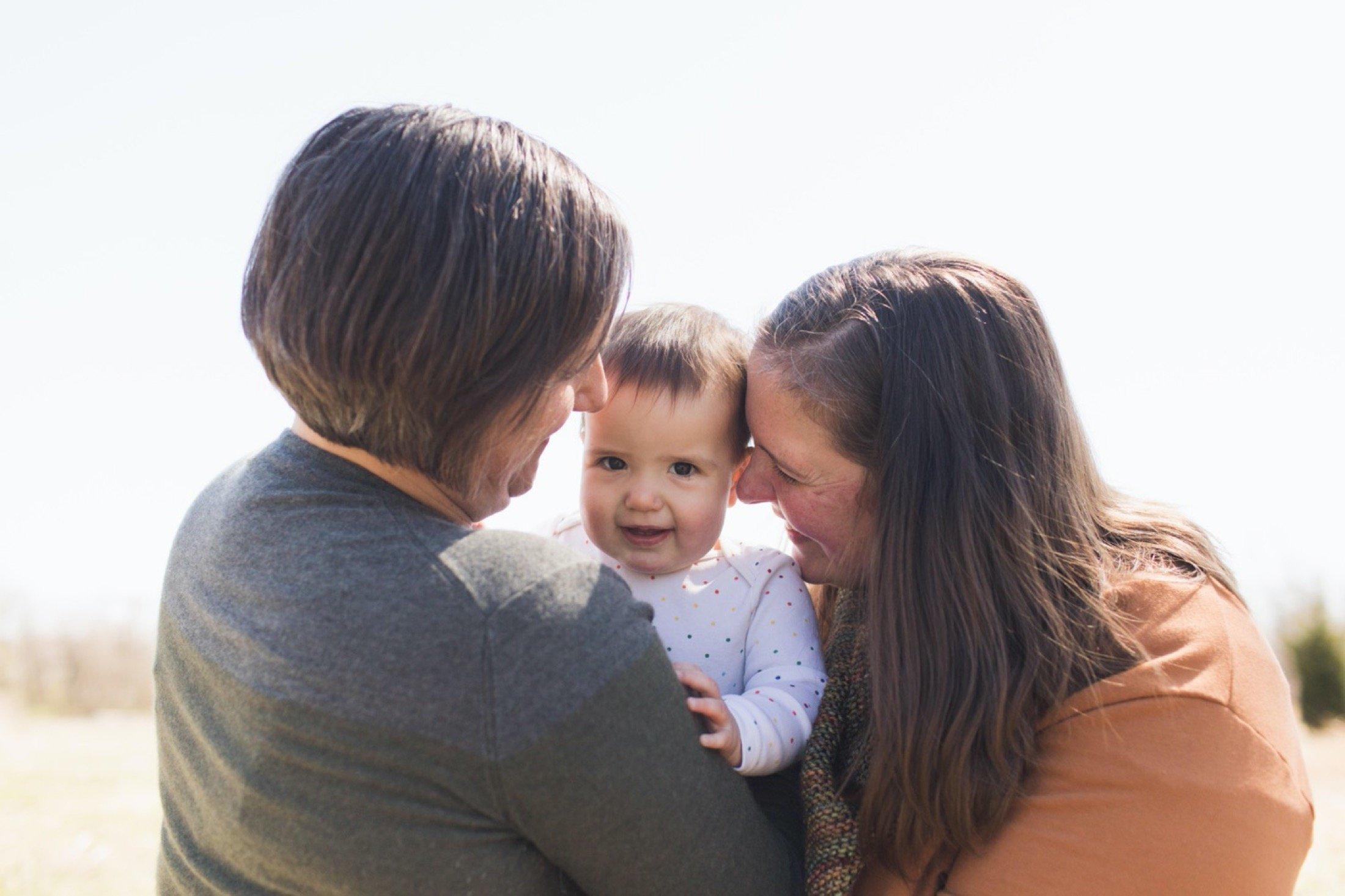 Family session in Philadelphia at Bartram's Garden